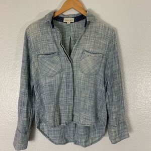 Anthropologie Cloth And Stone Chambray Crop top